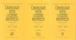 Cronologia vietii literare romanesti IX-X