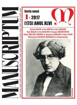 Coperta 1 Manusciptum 1-2017
