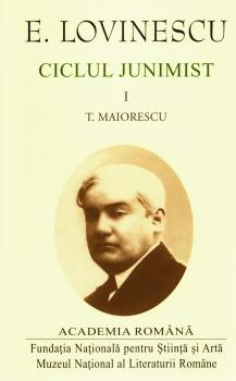 Lovinescu – Ciclul Junimist_coperta